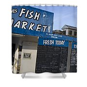 Fish Market In Hobart Shower Curtain