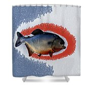 Fish Mount Set 12 B Shower Curtain