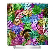 Fish Paisley Shower Curtain