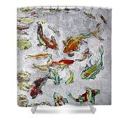 Fish Pond V2 Shower Curtain