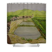 Fish Ponds Shower Curtain