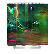 Fish-r-runnin' Shower Curtain