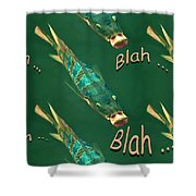 Fish Say Blah Blah Blah Shower Curtain