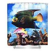 Fish Sculpture Shower Curtain