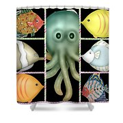Fish Stories  Shower Curtain