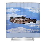 Fish With Bowler Shower Curtain