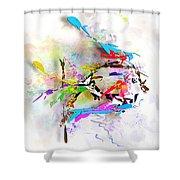 fish XXIV - marucii Shower Curtain