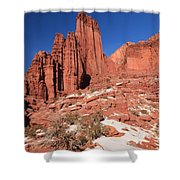 Fisher Towers Amphitheater Shower Curtain