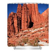 Fisher Towers Portrait Shower Curtain