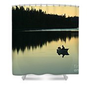 Fisherman At Dusk Shower Curtain by Nancy Harrison