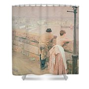 Fisherman St. Ives Shower Curtain by Anders Leonard Zorn