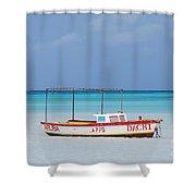 Fisherman's Beach In Aruba Shower Curtain