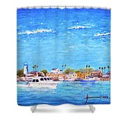 Fisherman's Village Shower Curtain