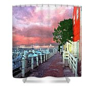Fisherman's Village Marina Del Mar Ca Shower Curtain