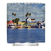 Fisherman's Village Marina Del Rey Ca Shower Curtain