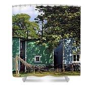 Fishermen Houses  Shower Curtain