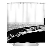 Fishers By The Sea Shower Curtain