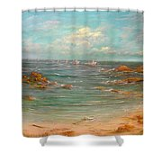 Fisher's Of Men Shower Curtain