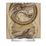Fishes And Lobster Shower Curtain