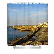 Fishing - Alexandria Egypt Shower Curtain