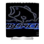 Fishing And Busch Beer In Neon Shower Curtain
