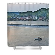 Fishing At Boathouse Row Shower Curtain