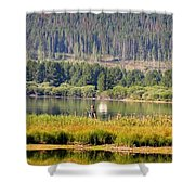 Fishing At George Town Lake Shower Curtain