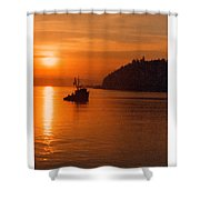 Sunset At Dash Point Shower Curtain
