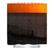 Fishing Boat And The Sunrise Shower Curtain