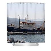 Fishing Boat Apostolos - Samos Shower Curtain