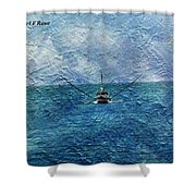 Fishing Boat As A Painting 2 Shower Curtain