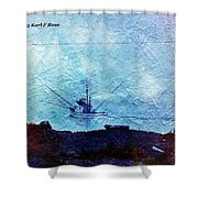 Fishing Boat As A Painting Shower Curtain