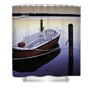 Fishing Boat At Dawn Shower Curtain