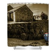 Fishing Boat At Sennen Cove  Shower Curtain