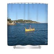 Fishing Boat - Cote D'azur Shower Curtain