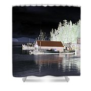 Fishing Boat Dock - Ketchican - Alaska - Photopower 01 Shower Curtain
