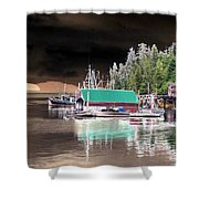 Fishing Boat Dock - Ketchican - Alaska - Photopower 02 Shower Curtain