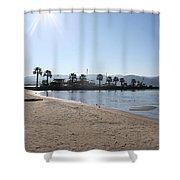Fishing Boat Jetty Shower Curtain