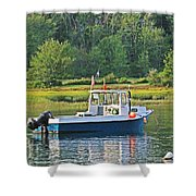 Fishing Boat Cape Neddick Maine Shower Curtain