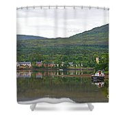 Fishing Boat On Kenmare River West Kerry Shower Curtain