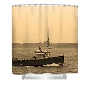 Fishing Boat Portland Maine Shower Curtain