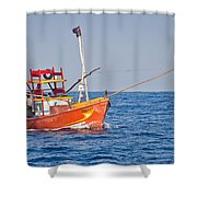 Fishing Boat  Sri Lanka Shower Curtain