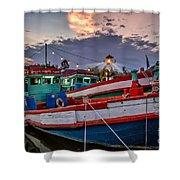 Fishing Boat V2 Shower Curtain