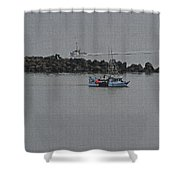 Fishing Boats Almost Home For The Night Shower Curtain