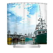 Fishing Boats Shower Curtain