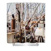 Fishing Boats Equipment Chaos Shower Curtain