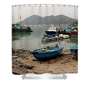 Fishing Boats - Hong Kong Shower Curtain