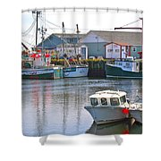 Fishing Boats In Branch-nl Shower Curtain