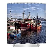Fishing Boats In Killybegs Donegal Ireland Shower Curtain