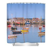Fishing Boats In The Howth Marina Shower Curtain